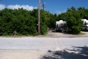 Photo: Buttonwood: Paved road with occupied campsites on the other side, bushes border sites.