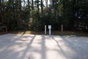 ADA Accessible site with concrete pad with hookups.