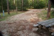 Campsite with picnic table.