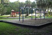 The picnic area offers play areas, a horseshoe pit, a covered pavilion, picnic tables and grills, fishing opportunities, as well as a grand view of the St Johns River