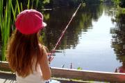 Fishing at Lake Griffin State Park.