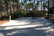Conveniently located, this is an ADA full access site. A cement 20 feet by 40 feet pad and pathway facilitates direct access to the campground facilities.  Accessible amenities include water/electric, Barbeque grill, picnic table, fire ring, clothes line and 11 feet by 11 feet tent pad.