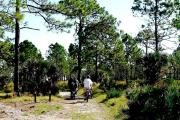 Bicyclists enjoy a trek on the Yellow Trail.