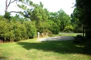 View of entrance to pull-thru campsite.