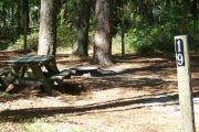 This site includes water, septic, and electric.  Accommodates tents, pop ups and RV's.