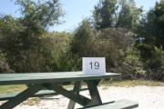 Campsite #19 at Blue Spring State Park showing picnic table.