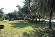 Sunny day at the picnic area.