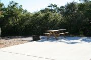 ADA-Accessible site with concrete pad, picnic table, fire ring and hook ups for water and electricity. RVs only.