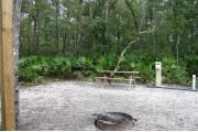 This site has a standing grill, fire ring, picnic table, water, and electric 20/30/50 amp. Amenities include a camp store, recreation hall, ADA accessible showers and restrooms, laundry, dump station, canoe rentals, short walk to the river, and playground. This is a tent only site with a fine gravel surface. There is no vehicle parking on this site.