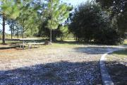 Photo: 5, ROSS PRAIRIE. View of campsite with picnic table and fire ring.