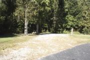 Photo: 012, SANTOS CAMPGROUND. View of campsite with water and electric hookups and picnic table with fire ring.